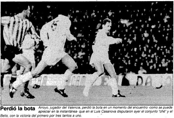 09.12.1990: Valencia CF 3 - 1 Real Betis