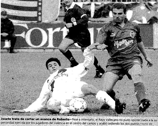 31.01.1993: Rayo Vallecano 0 - 1 Valencia CF