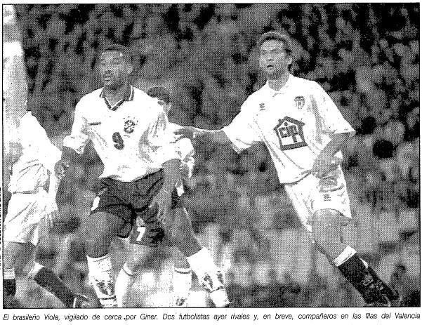 27.04.1995: Valencia CF 2 - 4 Brasil