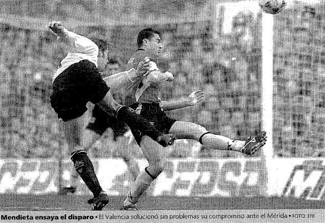28.01.1996: Valencia CF 4 - 1 CP Mérida