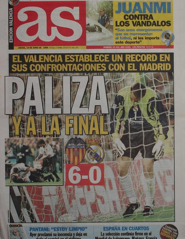 09.06.1999: Valencia CF 6 - 0 Real Madrid
